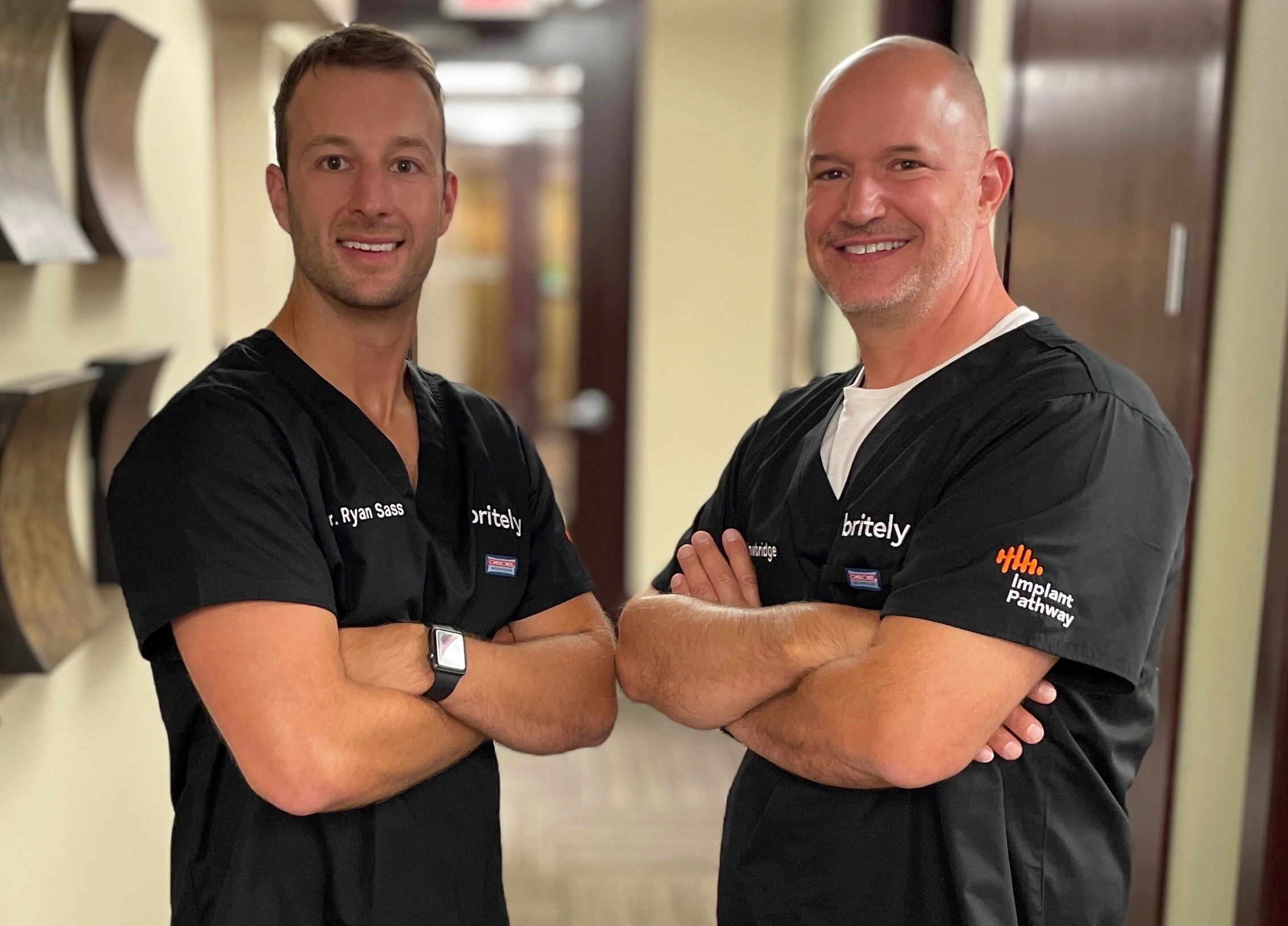 Dr. Trowbridge and Dr. Sass. The Britely Minneapolis leaders in denture implants.