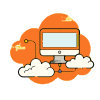 Desktop in the orange cloud