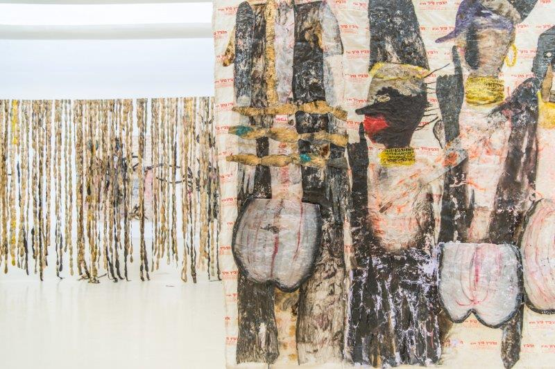 Ruthi Helbitz Cohen, Curtain of Tears exhibition view at Herzliya Museum for Contemporary Art