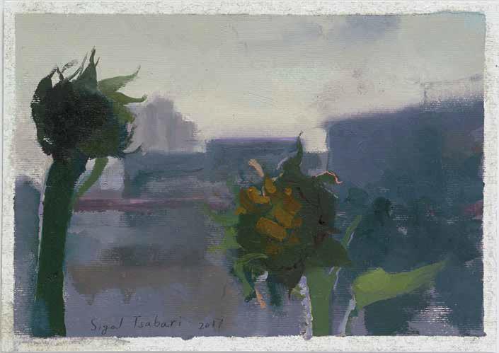Sigal Tsabari, Sunflowers at twilight