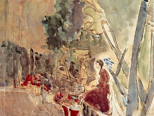 Joseph Zaritsky, Girl in Kandinoff Courtyard