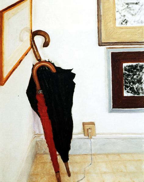 Avigdor Arikha, Red and Black Umbrellas
