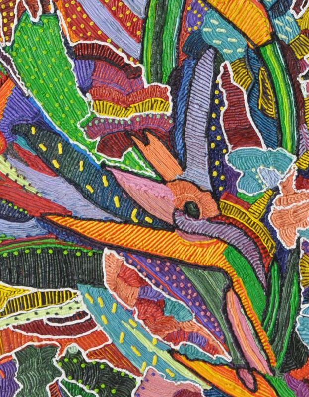 Caroline Larsen, Birds of Paradise (detail)