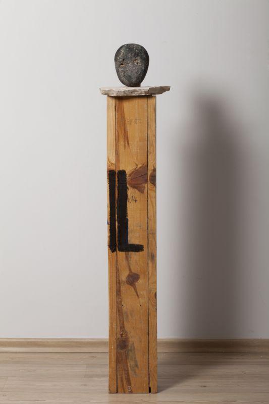 Asaf Ben Zvi, IL 2014 Wood, rocks and oil sculpture