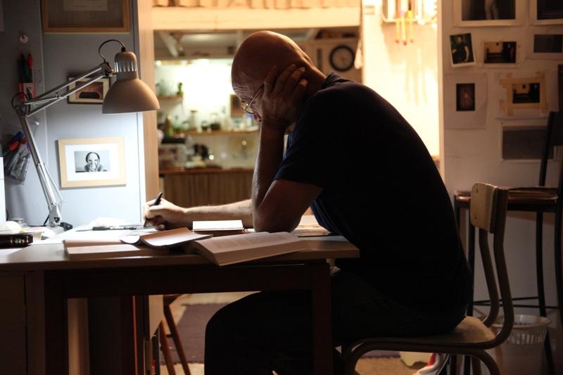 Simcha Shirman, Simcha Shirman in his studio