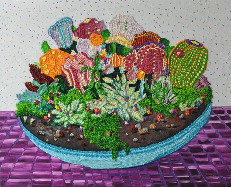 Caroline Larsen, Purple Still Life