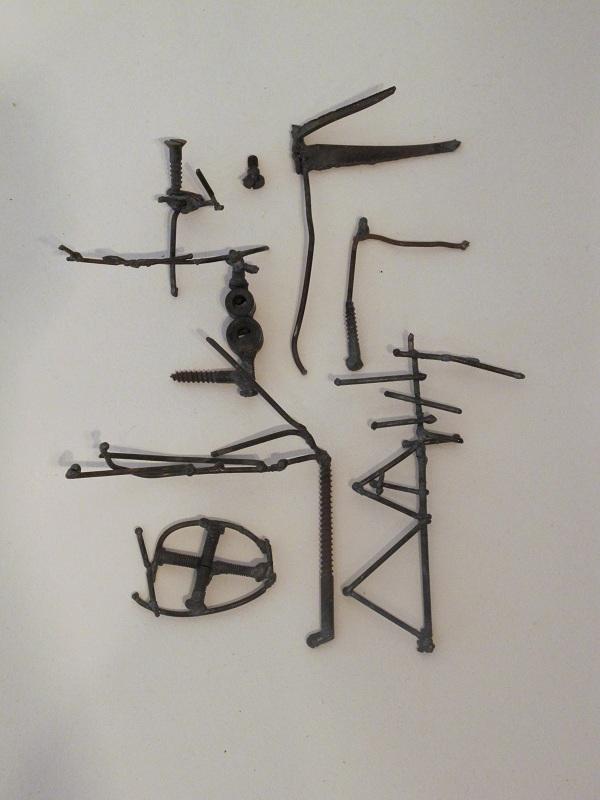 Mirit Cohen, Metal, Mental, Melted Metal(detail)