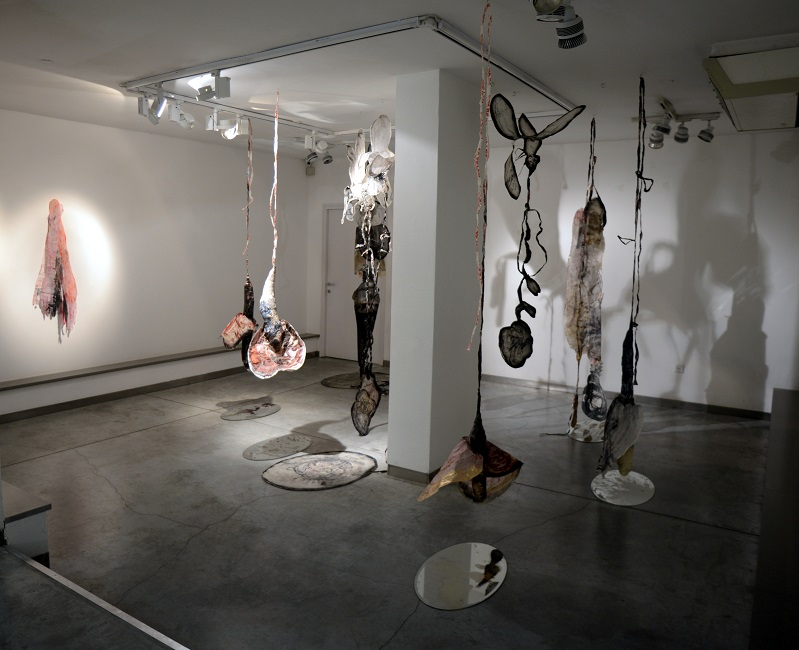 Ruthi Helbitz Cohen, Four Matriarchs and a Remainder exhibition view at Gordon Gallery