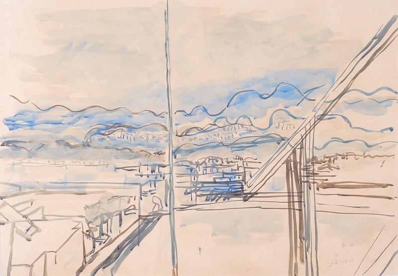 Joseph Zaritsky, View of Tel Aviv from the Roof
