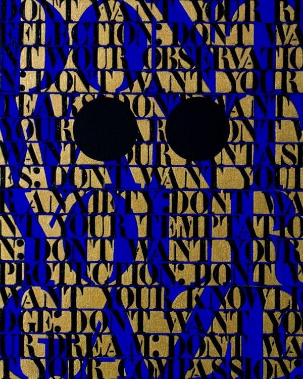 Pnina Reichman, Don't Want Your Gaze (gold)