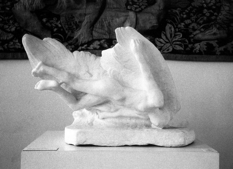 "Deganit Berest, Rodin's Icarus, from the ""Broken Statues"" series"