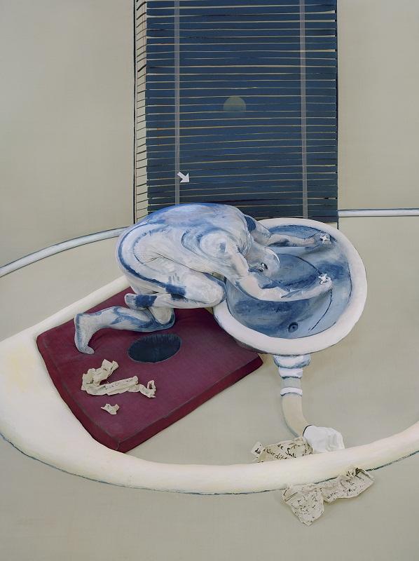 Michel Platnic After Figure at a washbasin, 1976