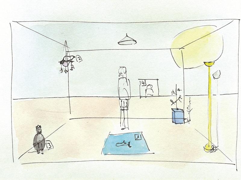 Michel Platnic, Genesis, detail from Storyboard