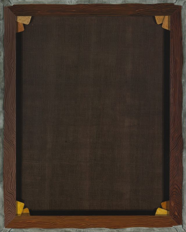 David Ginton, Back of a Painting, no. 2 in the Series of Empty Versos