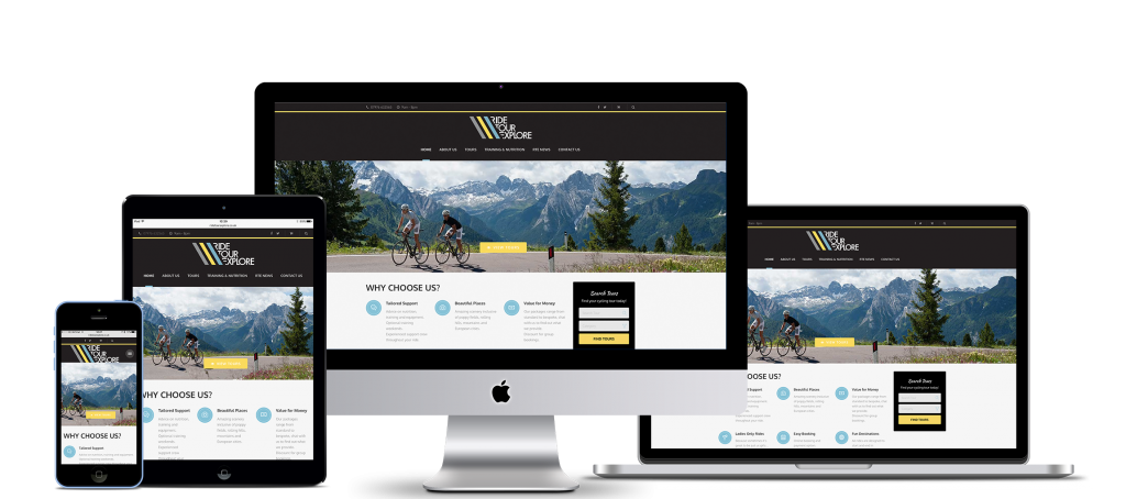 Website design throughout several screen sizes