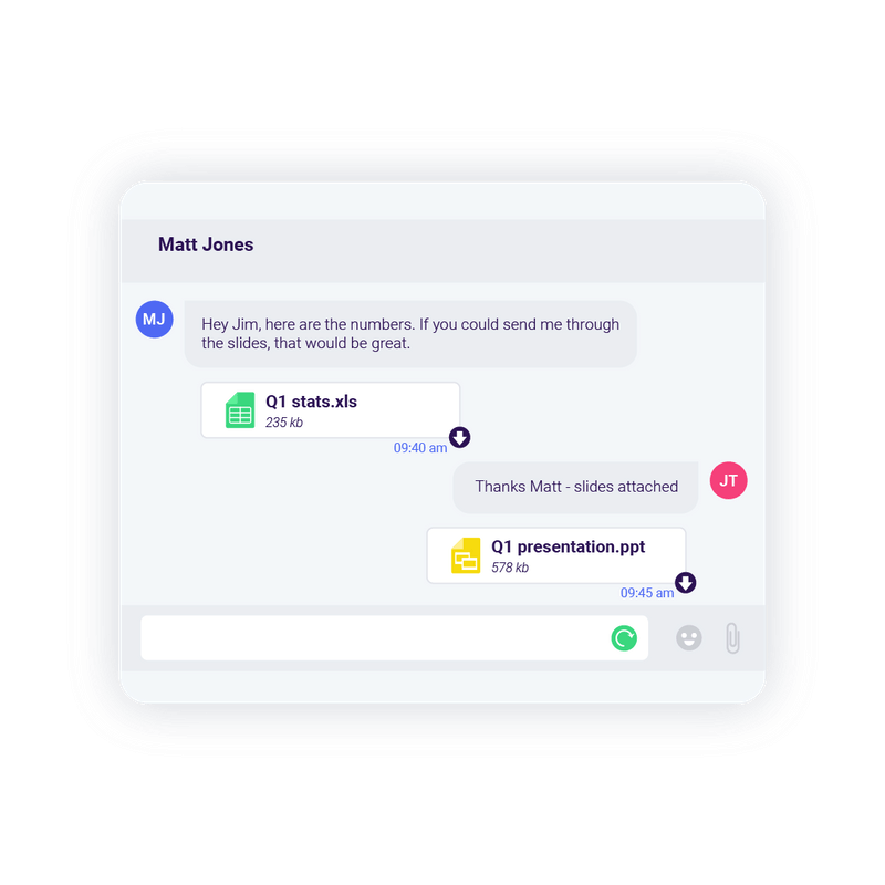Share files with Rake messaging technology