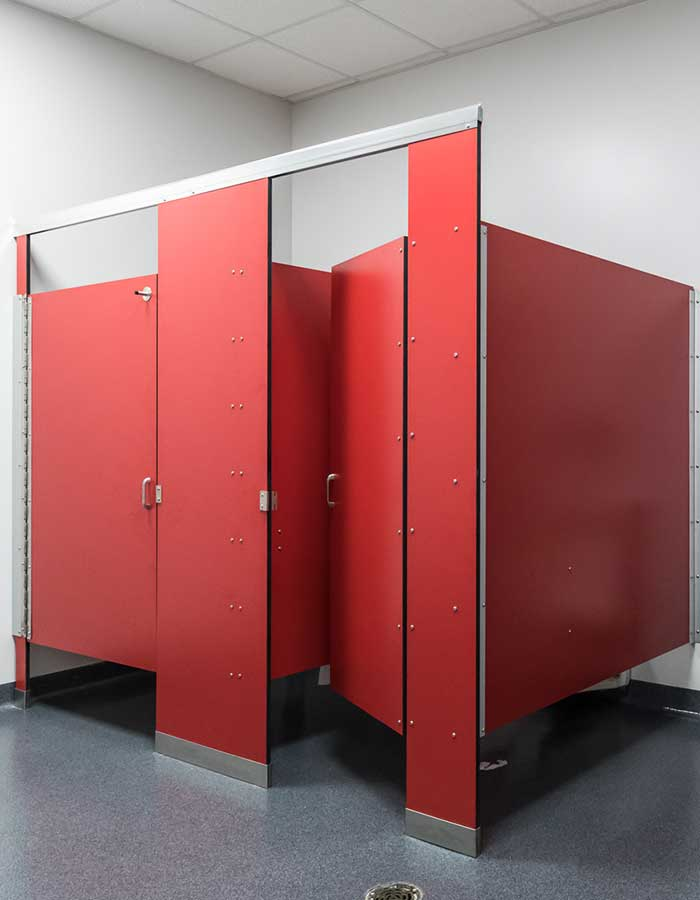 bathroom partitions in the Buillion Primary School