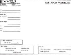 Partition Blank Form Plans