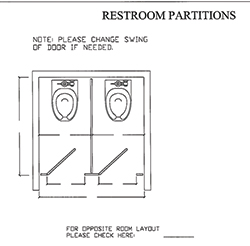 Partition Between Walls 2 Plans