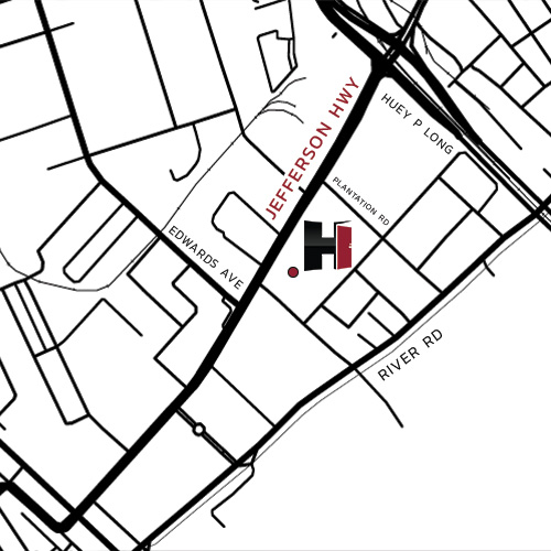 Map of Himmel's New Orleans Location