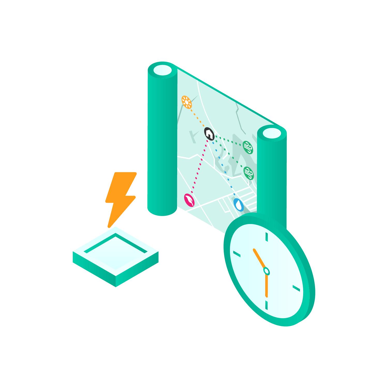 illustration of lightning