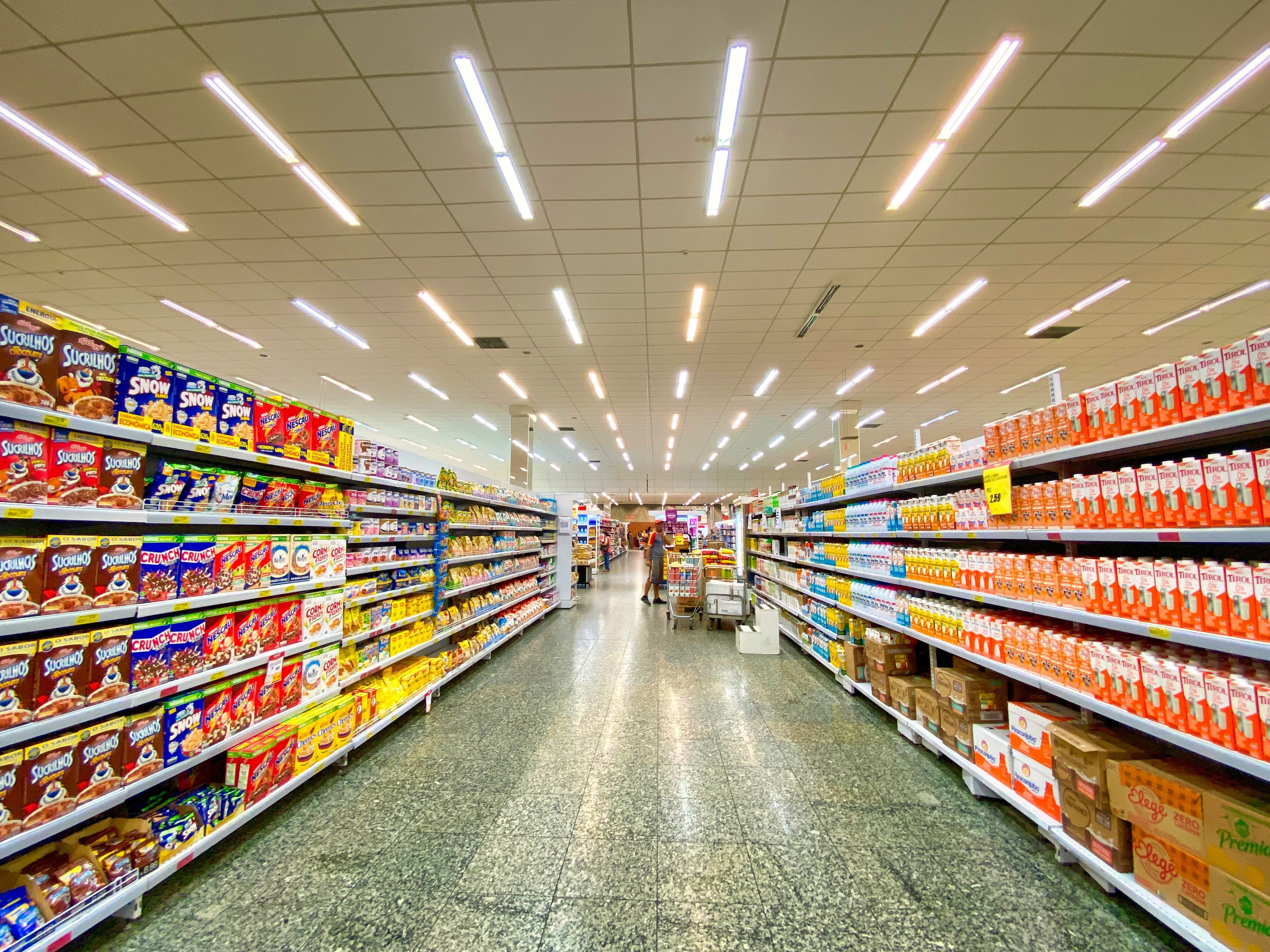 Image of shelves inside a grocery store