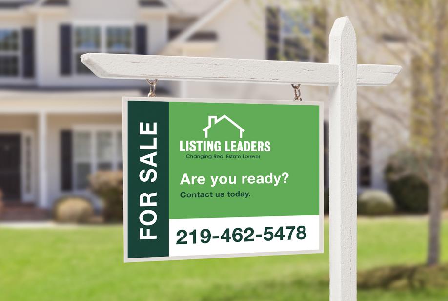 Listing Leaders real estate sign