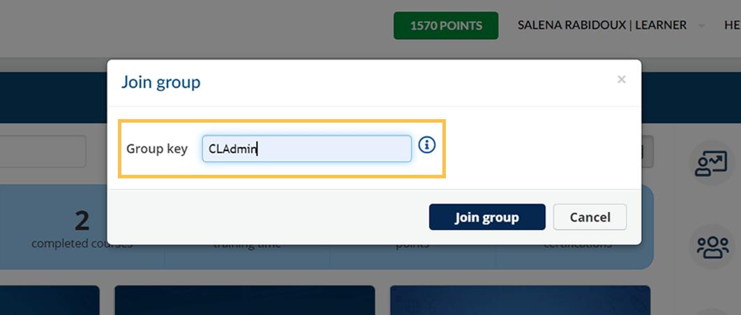 CL Academy - Add Group Key