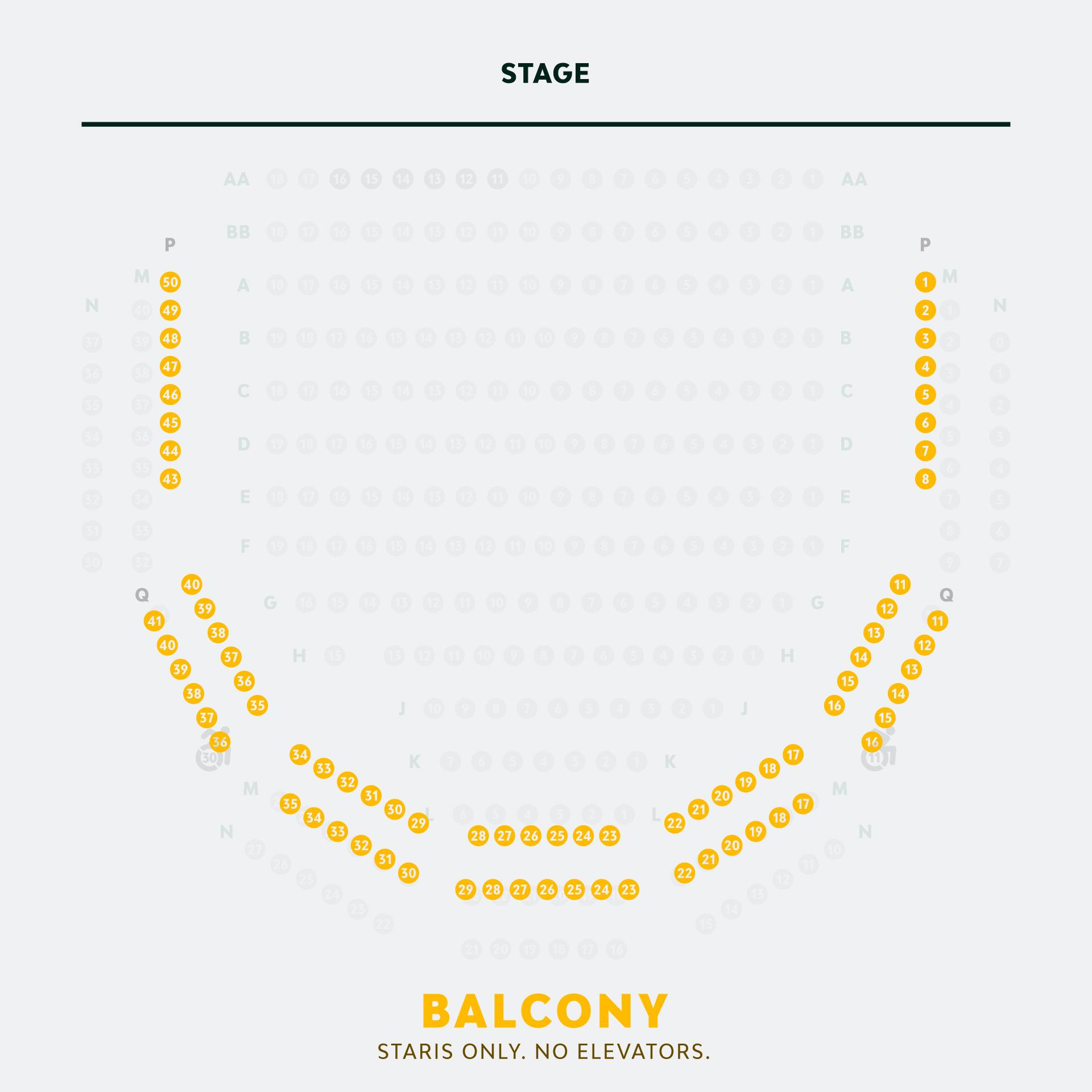 Elizabeth Wallace Theater Balcony Seating
