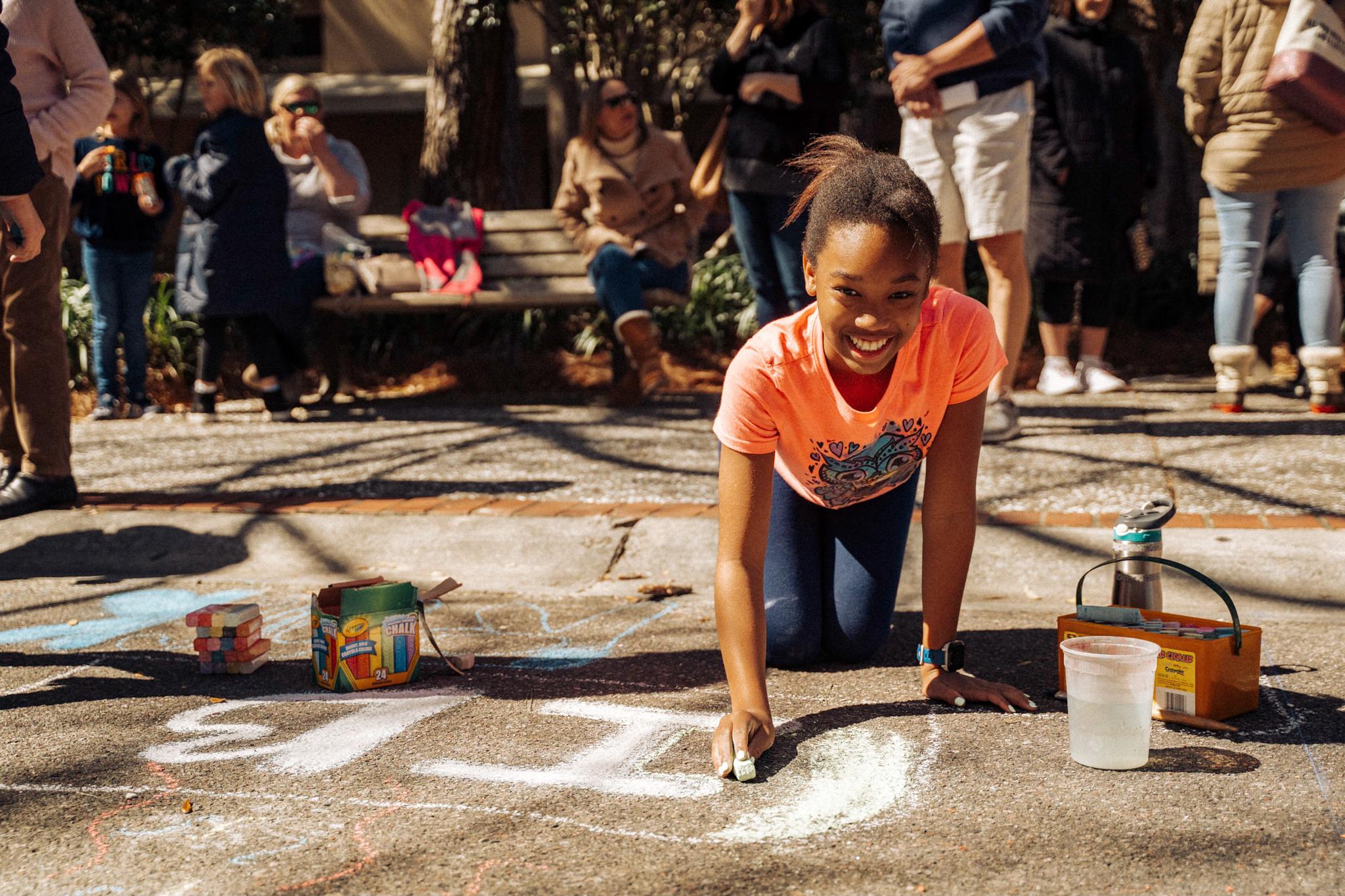 Chalk Exhibition Contestant
