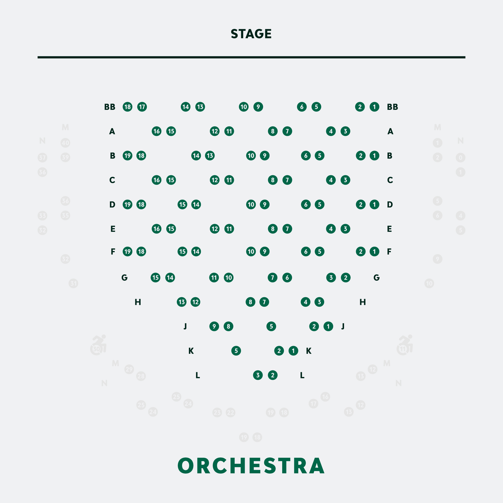 Physically Distanced Orchestra Seating Chart