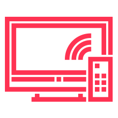 Ikon TV-montering på vägg