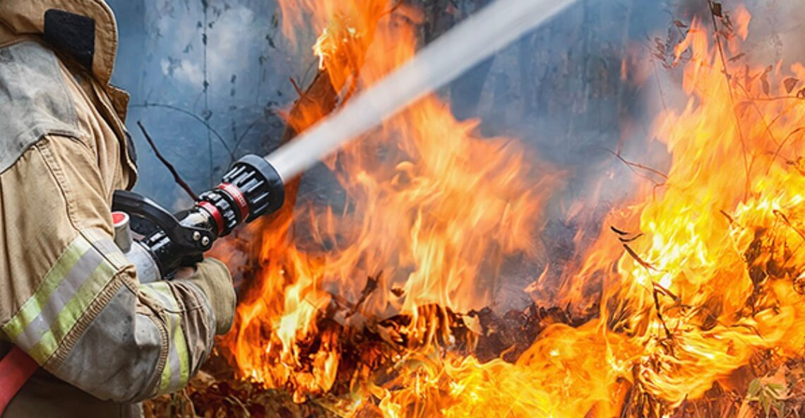 Ensuring business against fire damage