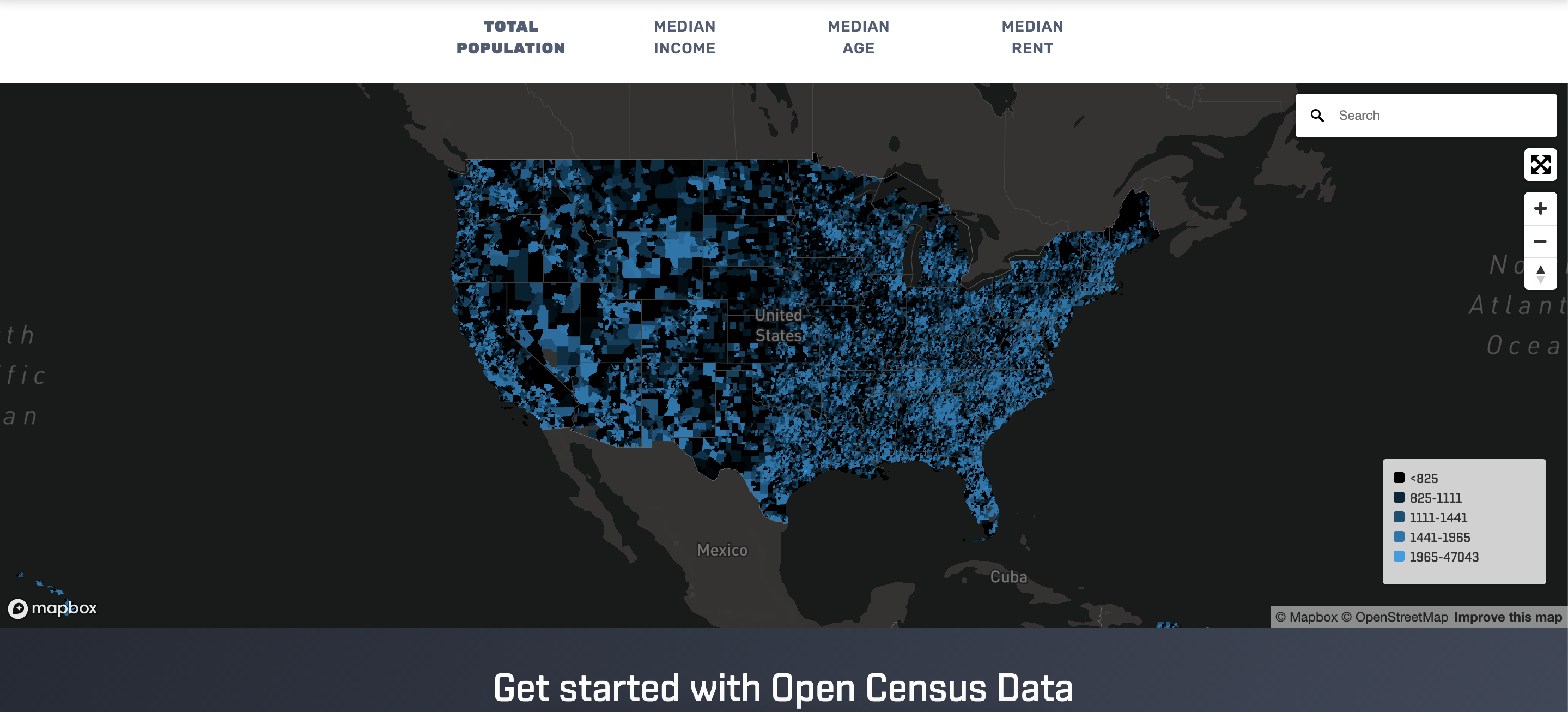 Open census data provide detailed demographic information for data enrichment.