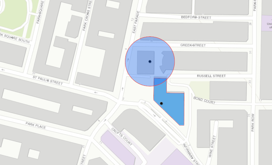 Industrial POI footprints are the most precise geofences for brands to use when monitoring the supply chain. A centroid radius can indicate a potentially incorrect delivery point.