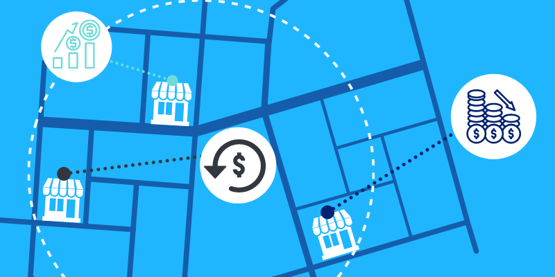 Analyzing the financial viability of nearby stores