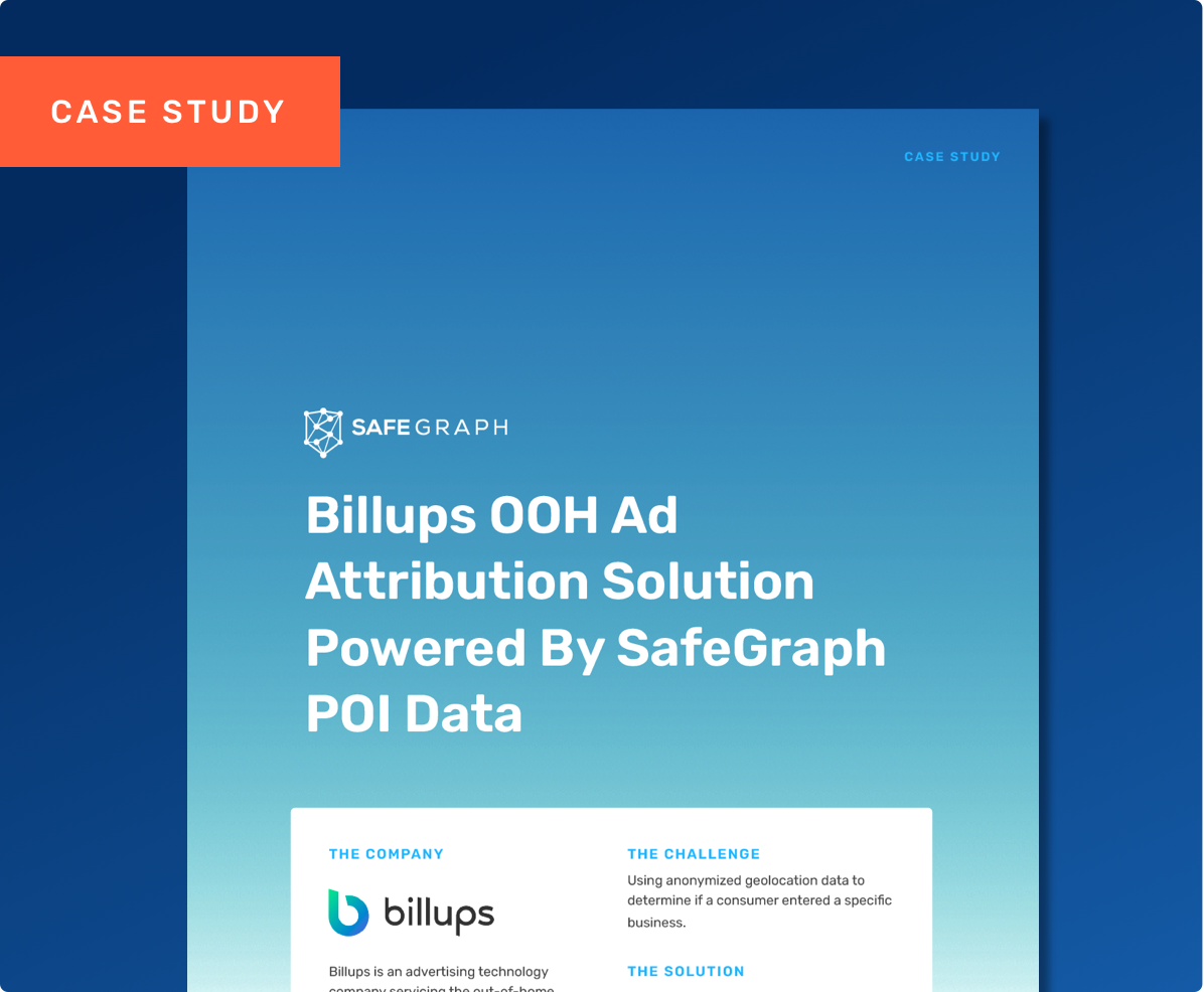 See How Billups Accurately Measures Consumer Exposure to Out-of-Home Ads