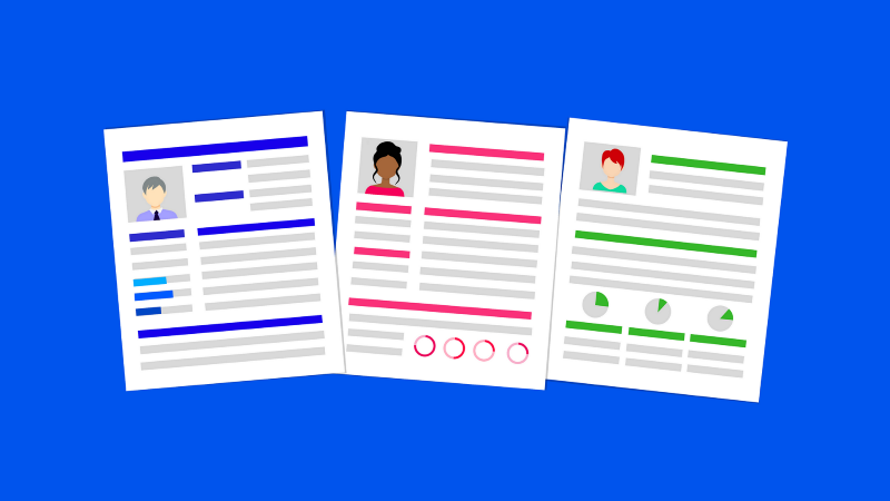 Different resume formats and layouts