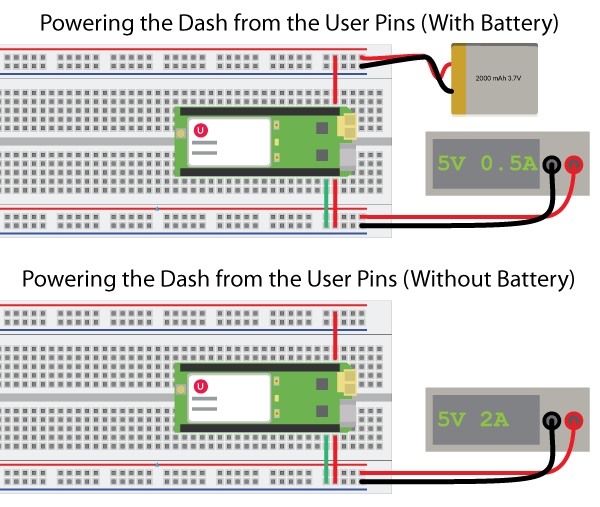 Powering-the-Dash-from-pins