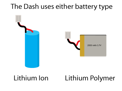 Dash-uses-either-battery-type