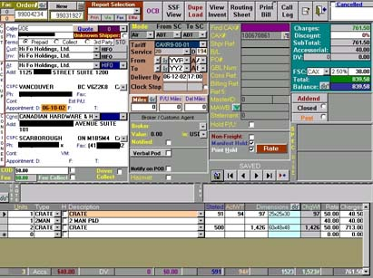 Actually photo of typical M2M Cellular User Interface