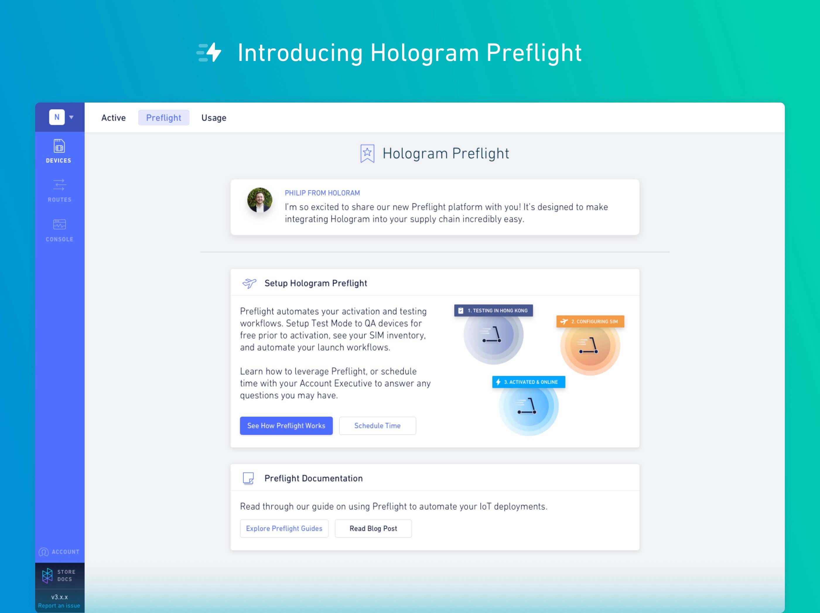 Introducing Hologram Preflight