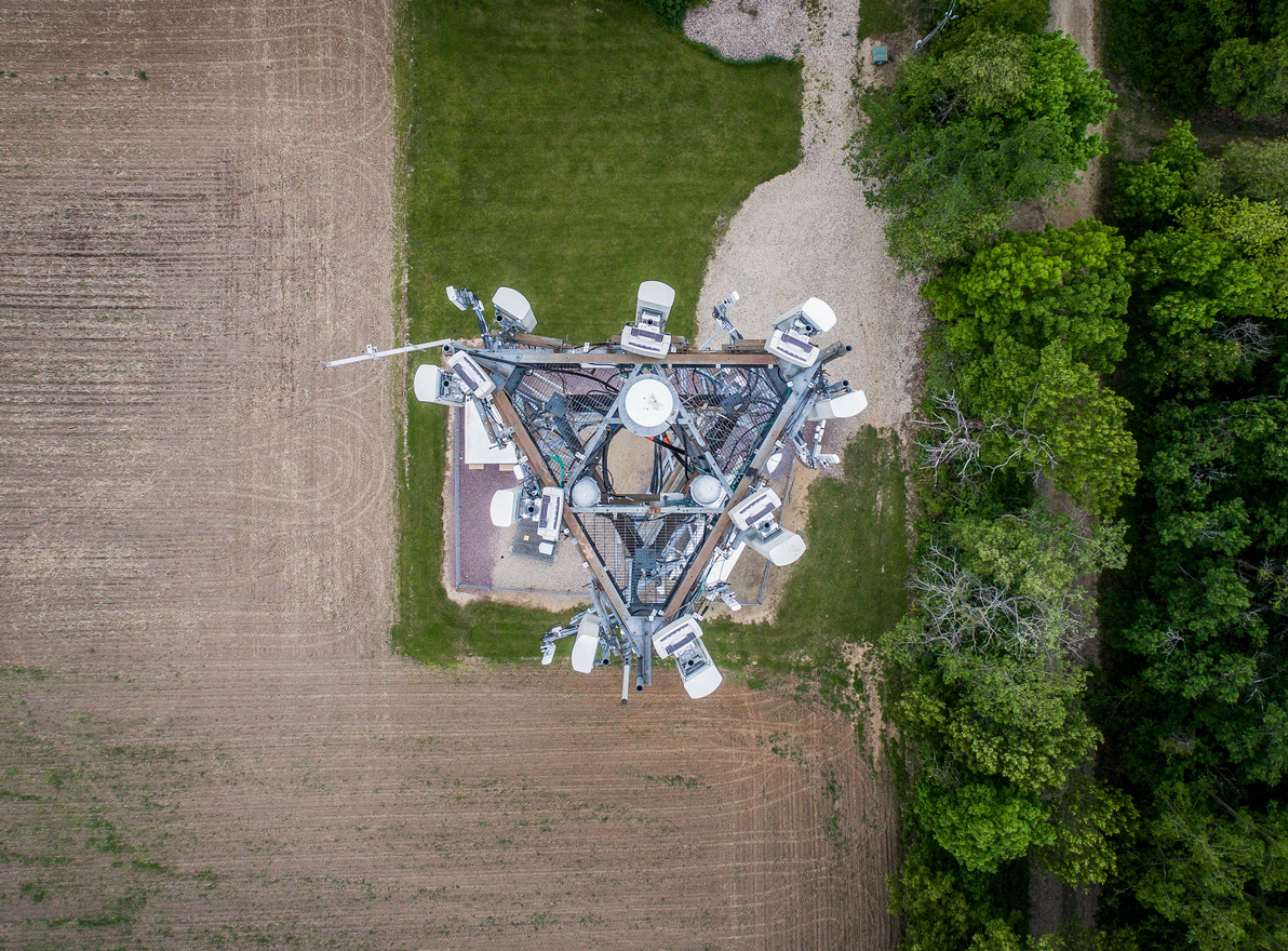 Cell tower from above