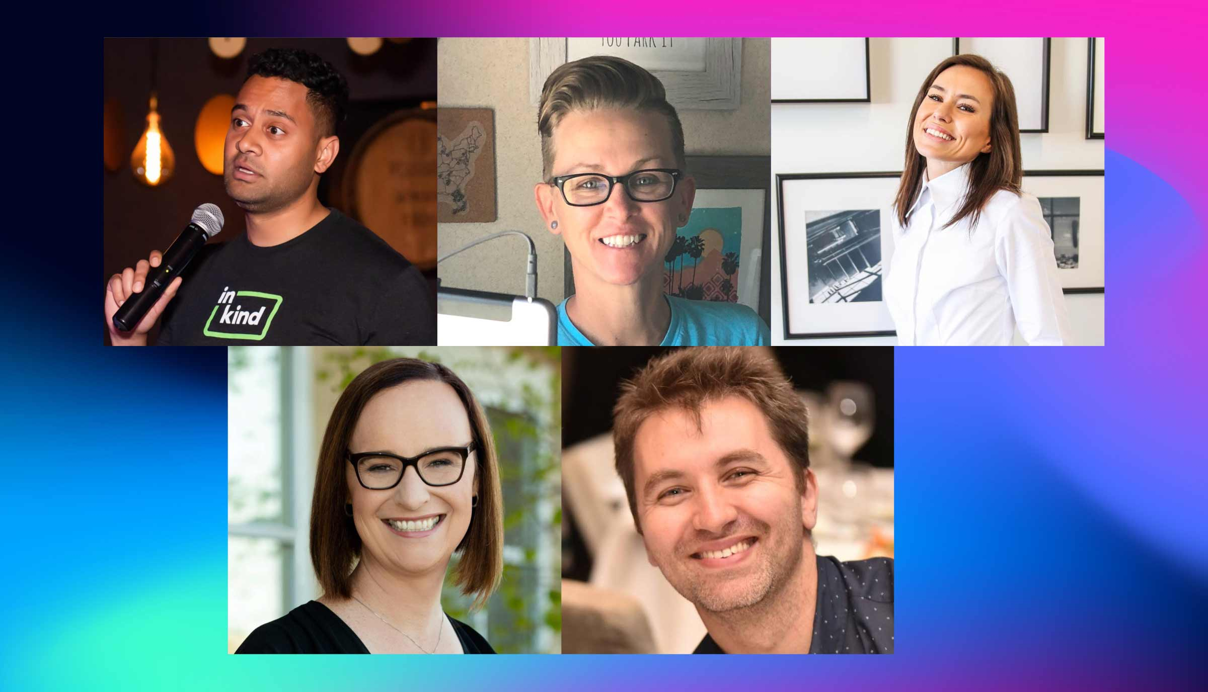 Profile photos of LGBTQ+ community members we are highlighting for Pride 2020