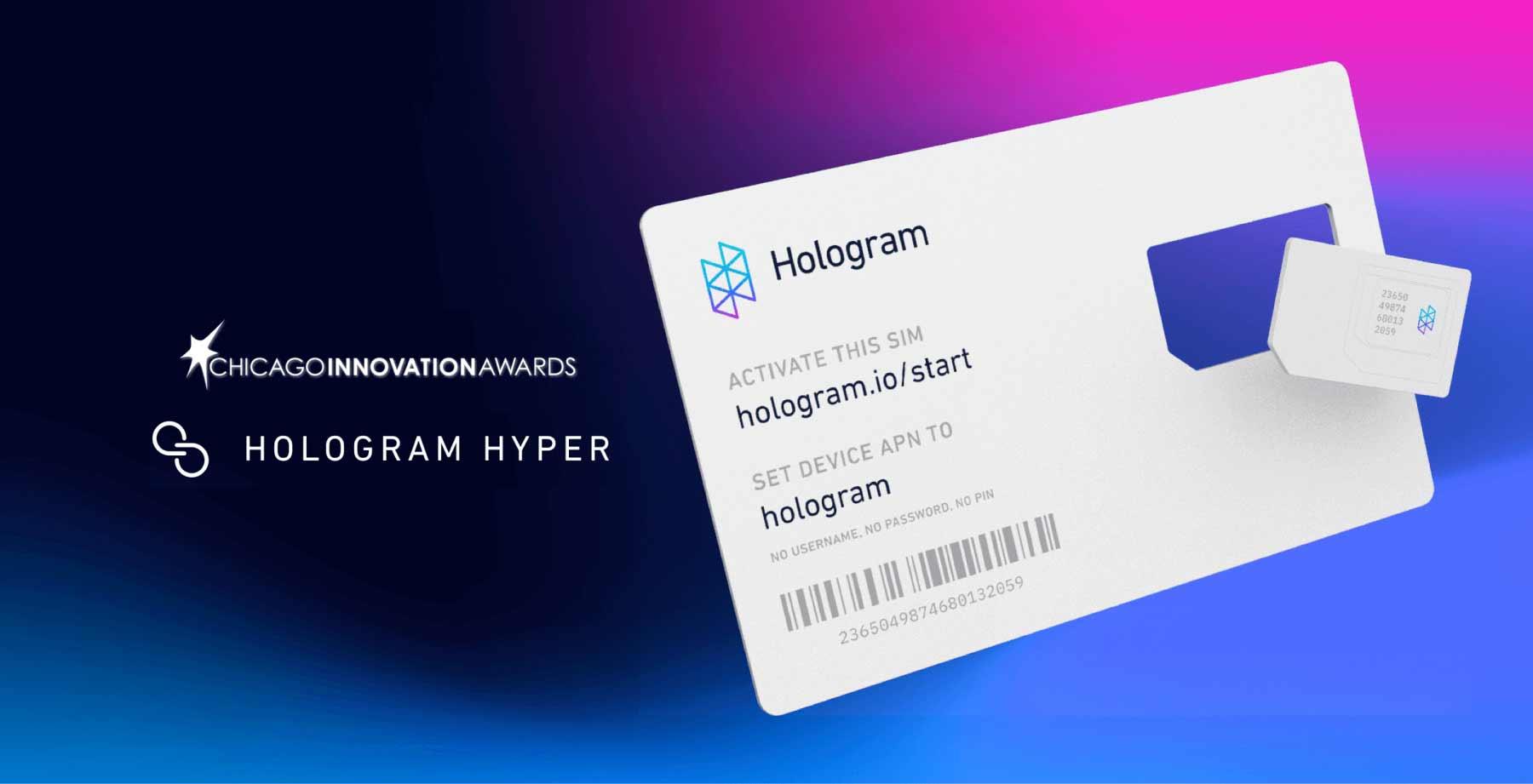 Hologram Hyper has won a Chicago Innovation Award.
