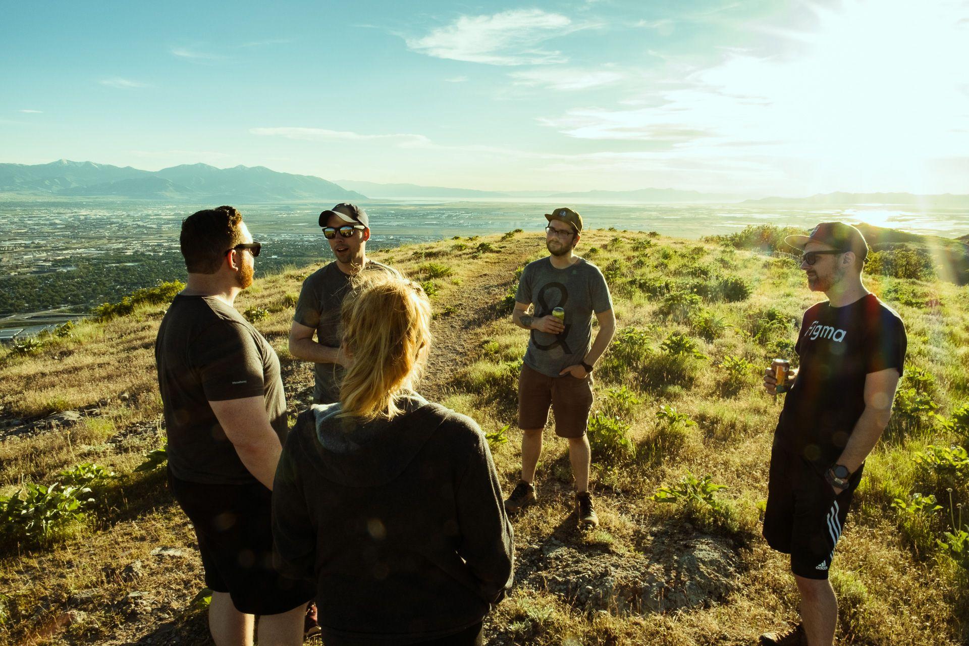 team hike at ensign peak