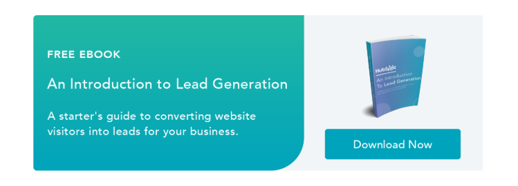example of lead generation on landing page