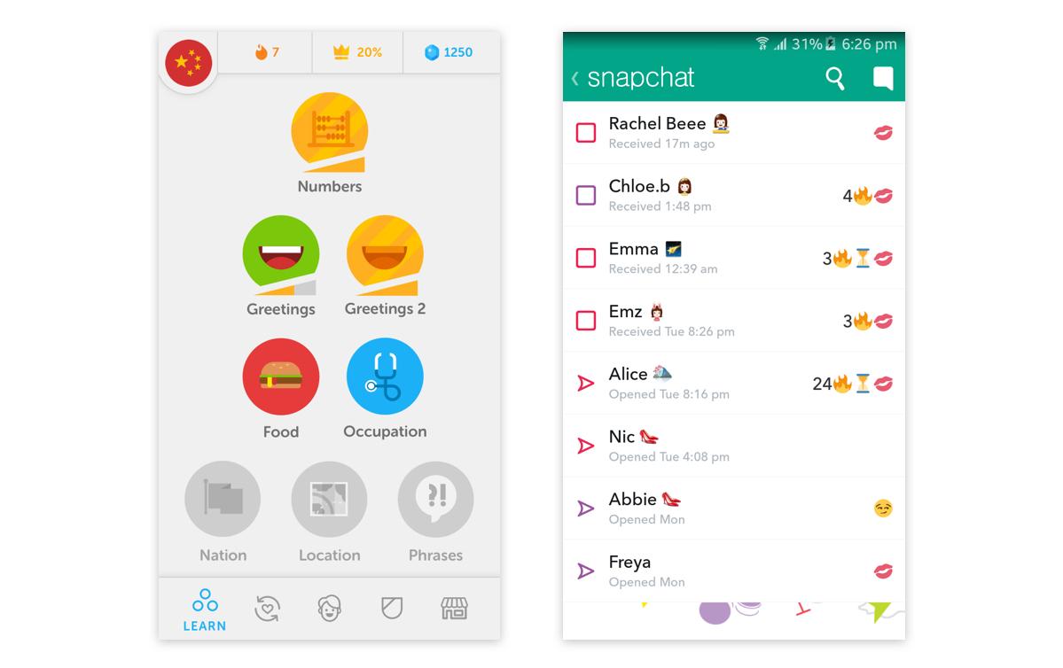 Snapchat streak & Duolingo gold cover