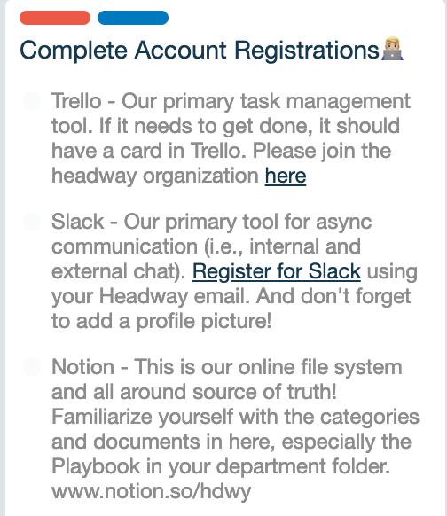 Complete Account Registration Card