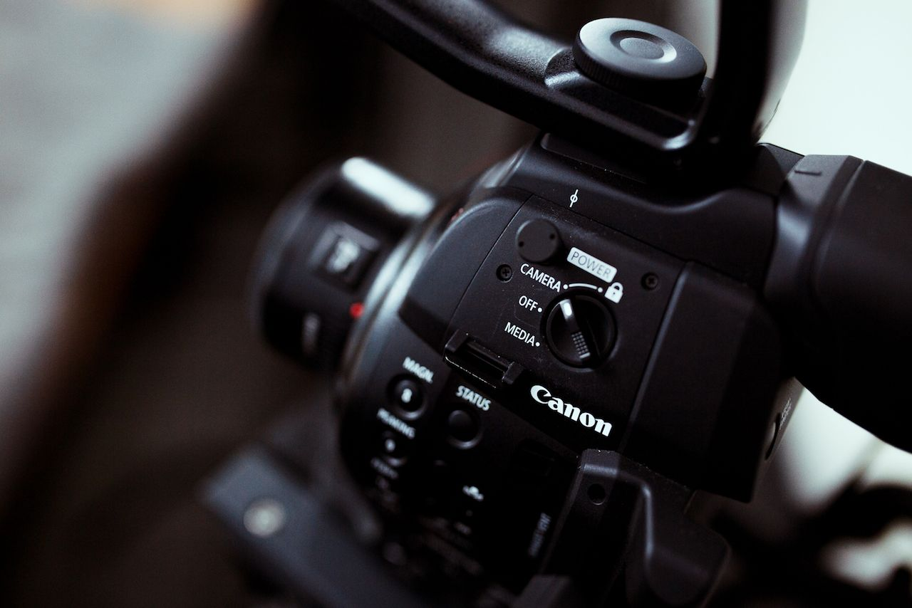 Canon camera power switch